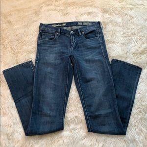 Madewell Rail Straight Jeans Size 26 x 34
